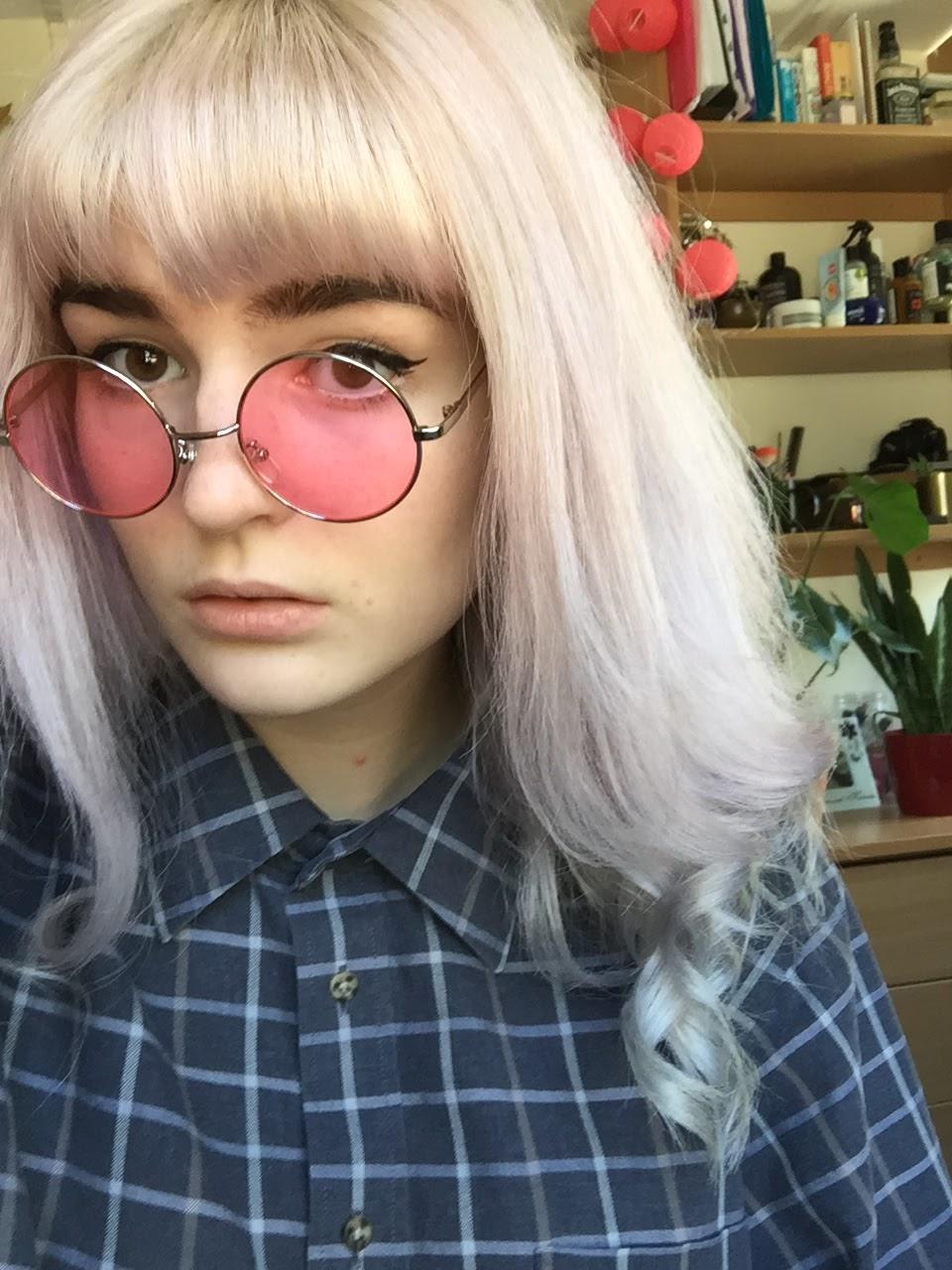 pastel pink lilac hair