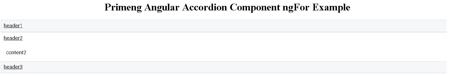 primeng angular ngFor Example