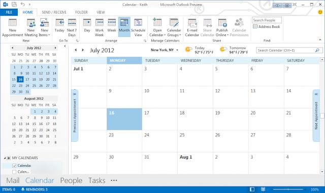 Microsoft Office Outlook 2013 Metro UI