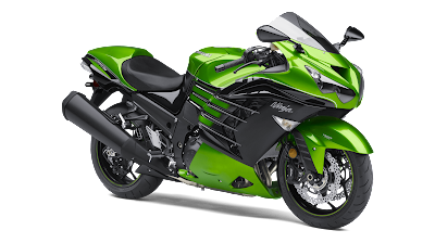 Kawasaki Ninja ZX-14R green colour side HD Image
