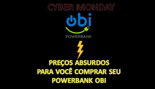 Cyber Monday - Powerbank Obi! (Carregador portatil, bateria portatil, power bank, capa carregadora)