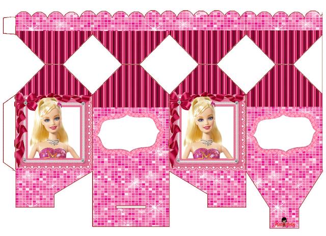 Cajas de Barbie para Imprimir Gratis