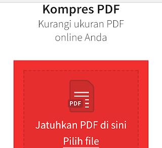 Cara mudah mengkompres ukuran file pdf secara online