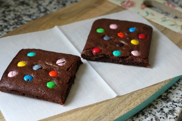 Toaster Oven Brownie for Two