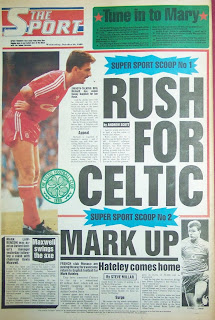 Back page of the Sport newspaper from 26th October 1988