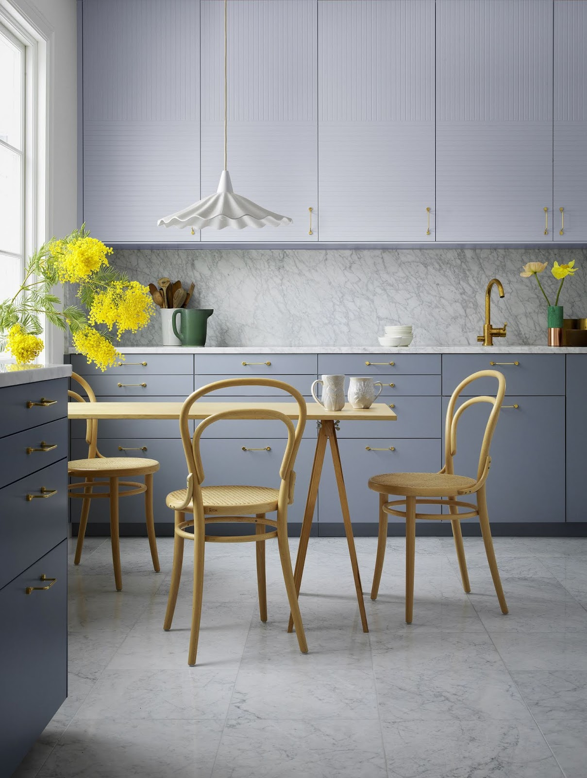 Blue Kitchen Temporary Ideas