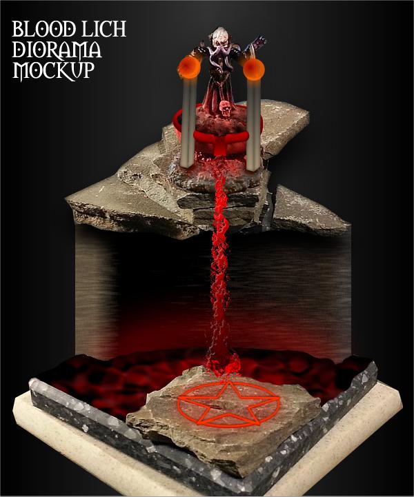 WIP Toying 2: Blood Lich Diorama Mockup