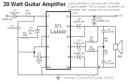 build a 20w guitar amp  diy  the ic la4440 was very useful