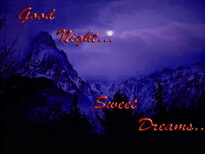 good night sweet dreams friends