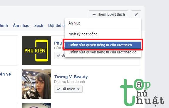 Thủ thuật ẩn những nội dung đã thích không cho bạn bè biết trên Facebook