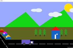 Processing Animasi Pemandangan Desa Bergerak