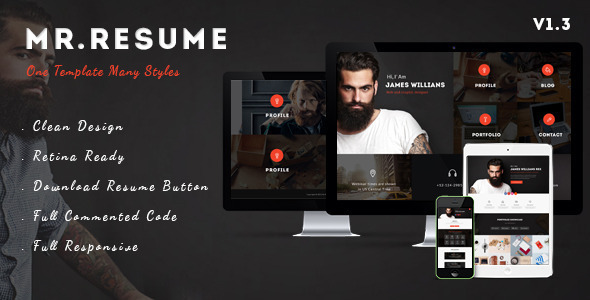 Morgan Resume Portfolio Responsive Wordpress Themes