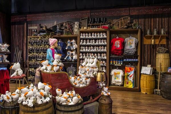 Produtos da loja do Frozen na Disney em Orlando