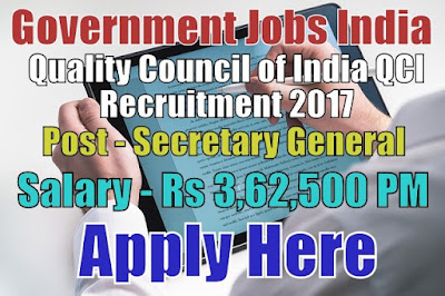 Quality Control of India QCI Recruitment 2017