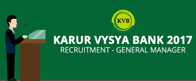 Vacancy Of General Manager In Karur Vysya (KVS) Bank: Notifications