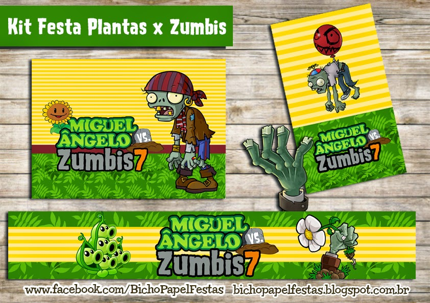 Kit Festa Plantas vs Zumbis