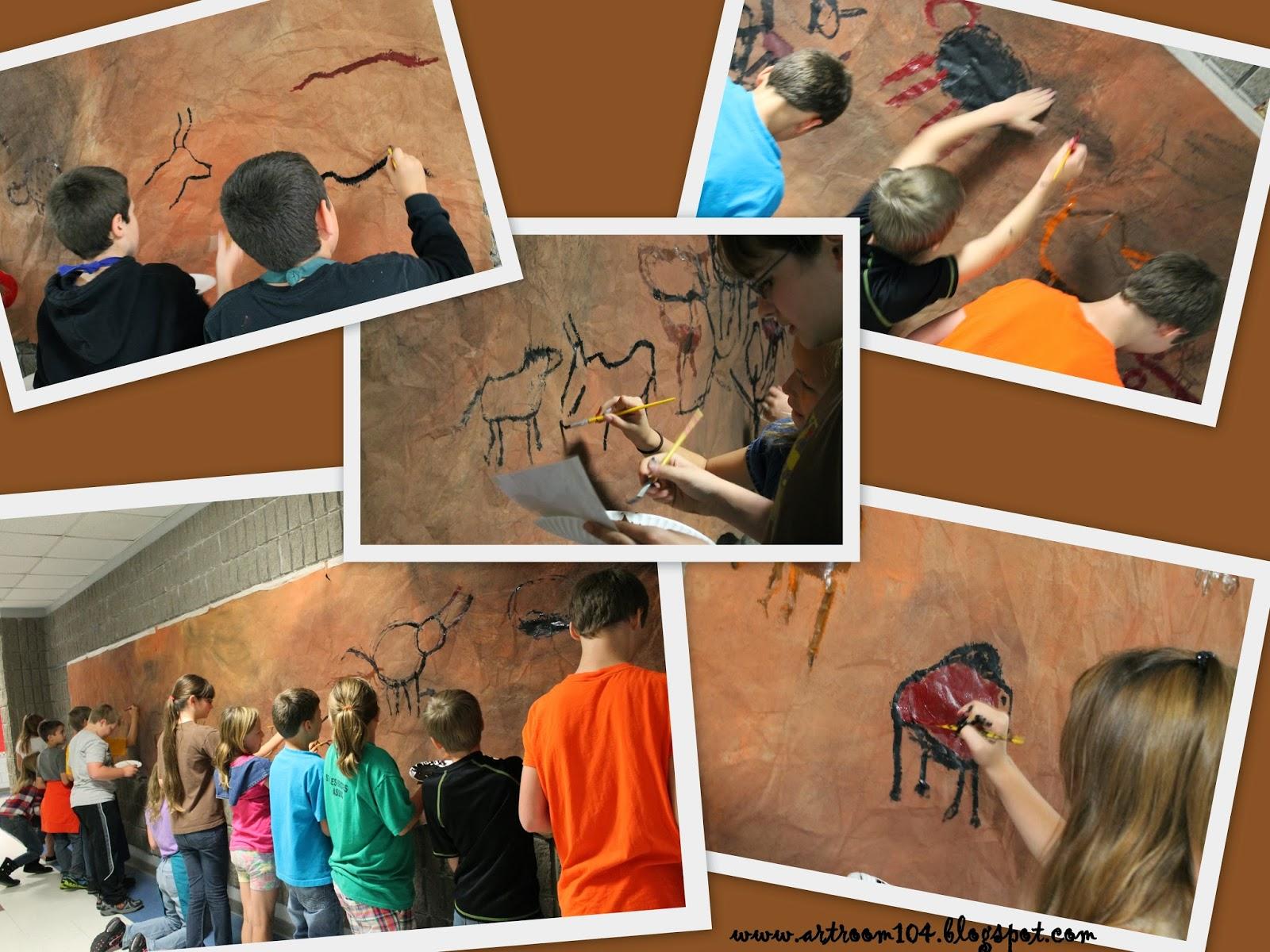 Art Room 104 6th Grade Prehistoric Cave Art