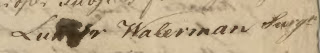 Signature of Luther Waterman Revolutionary War Surgeon