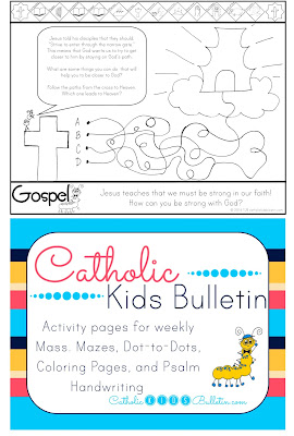 Catholic Kids Bulletin Coloring Page Luke 13.22-30