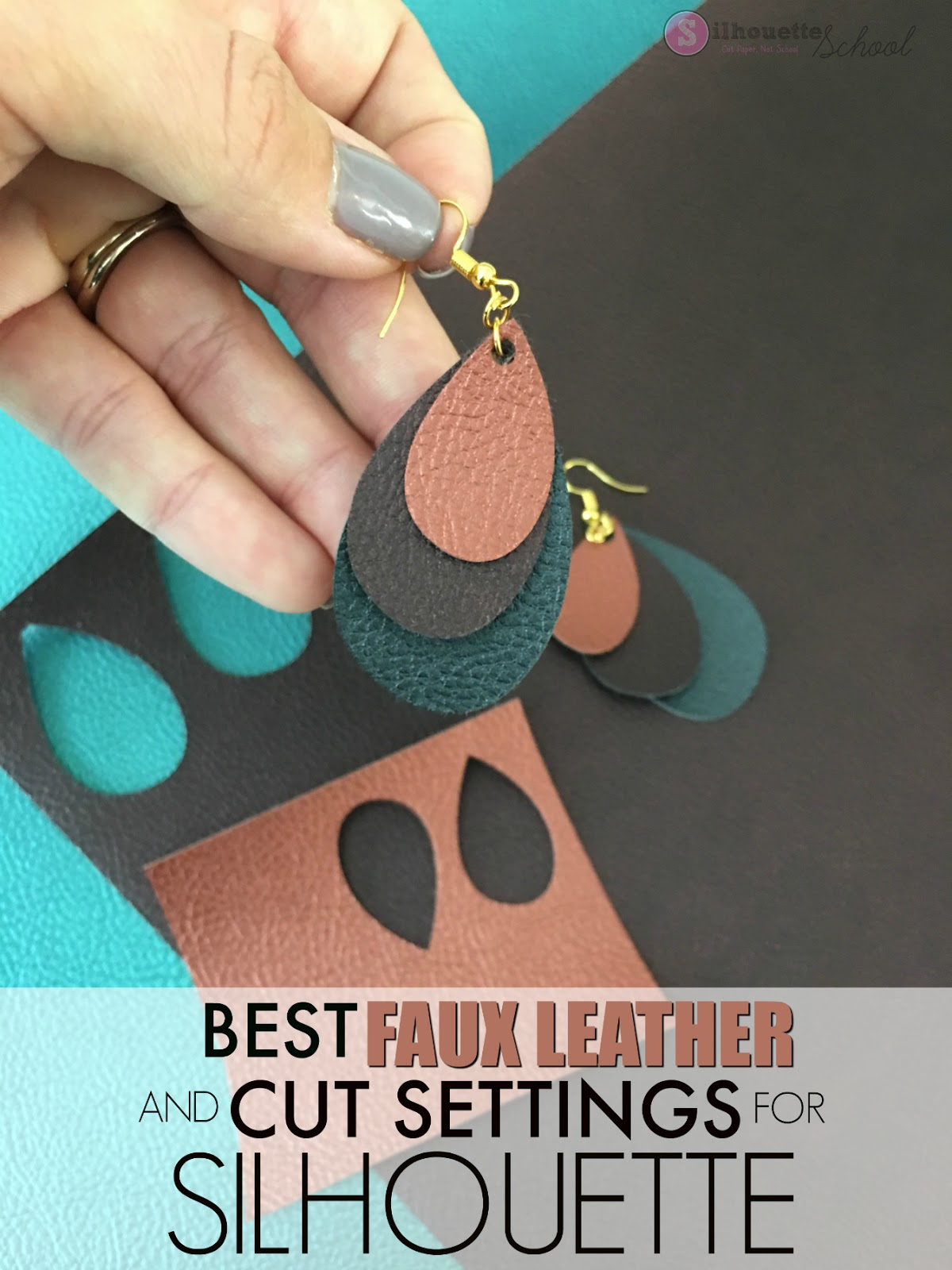 how to make leather earrings with silhouette