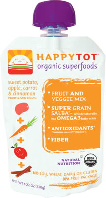 Happy Tot Organic Baby Food Age