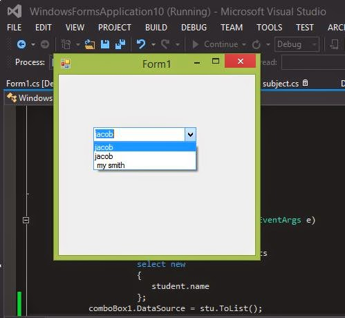 How to populate comboBox in windows form c#
