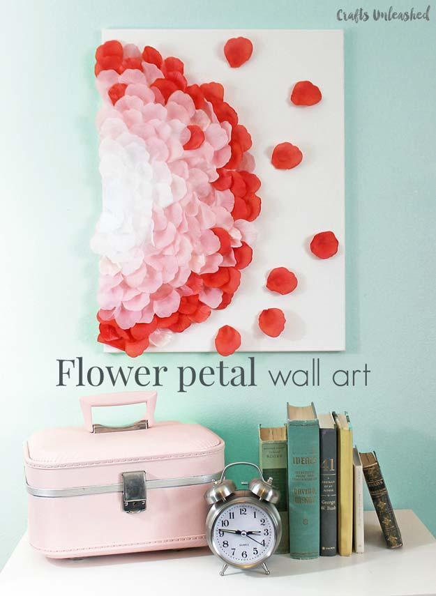 Flower petal art DIY