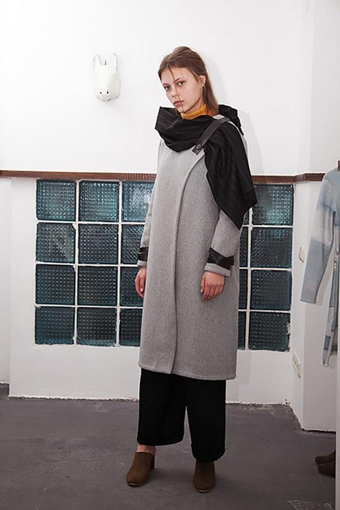 модное пальто, необычное пальто