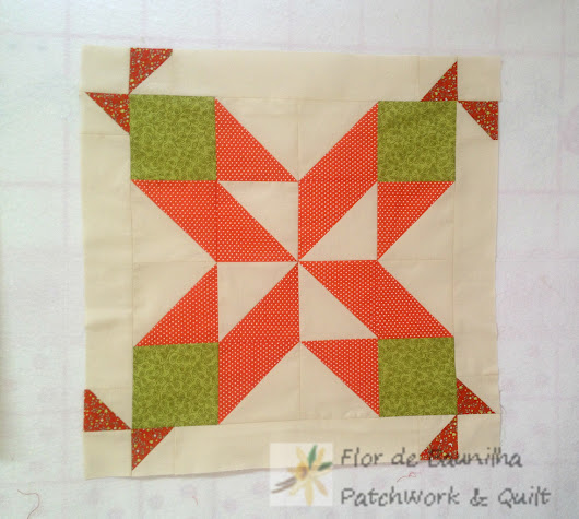 Tutorial Bloco de Patchwork Diamond Star