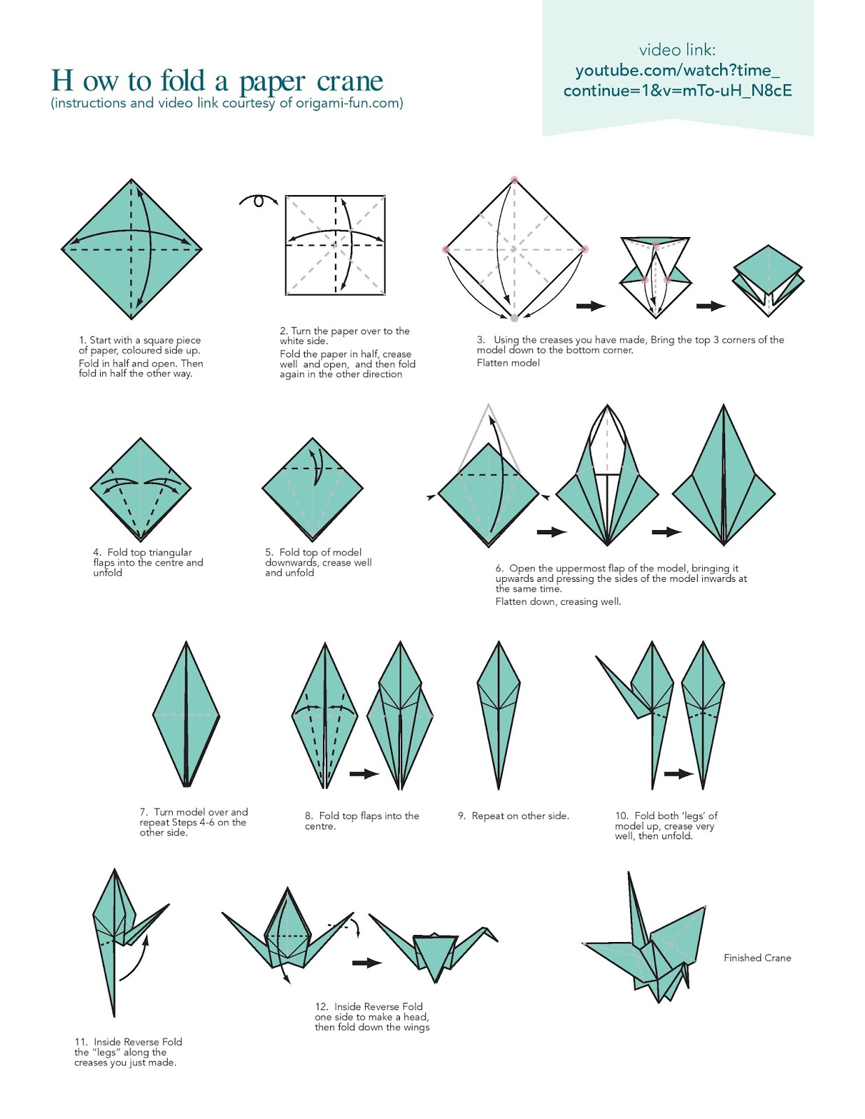 How to Make a Paper Crane : 16 Steps (with Pictures) - Instructables | 1600x1237