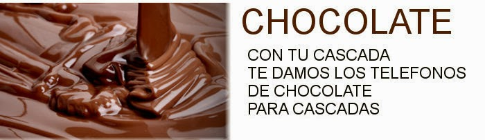 chocolate para cascadas
