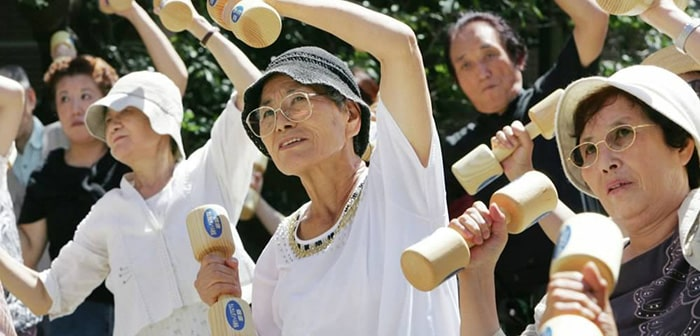 Японские пенсионеры фото