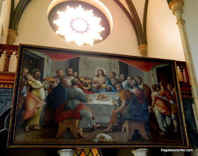 Santa Ceia pintada por Mestre Ataíde - Santuário do Caraça, Minas Gerais