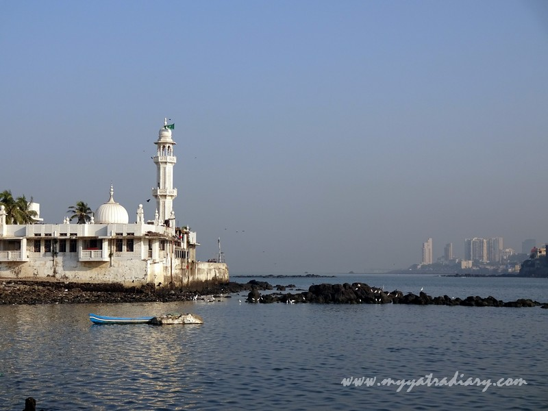 Haji Ali Dargah and Mumbai high rise buildings, Mumbai