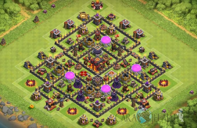 Base Farming TH 9 COC Update Bomb Tower Terbaru 2017 Tipe 11
