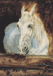 Henri de Toulouse-Lautrec (1881) cheval blanc Gazelle