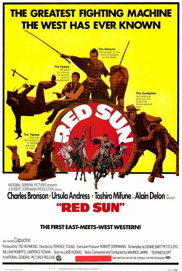 90ac595b Red Sun (French: Soleil rouge) is a 1971 French-Italian-Spanish Western  film with an international cast. It stars American-born actor Charles  Bronson, ...