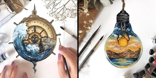 00-Tiny-Watercolors-Compasses-Light-Bulbs-and-Trees-www-designstack-co