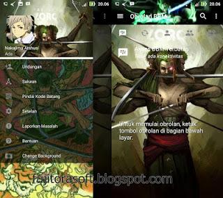 BBM Mod Anime Terbaru Roronoa Zoro Asura Mode Clone/Unclone
