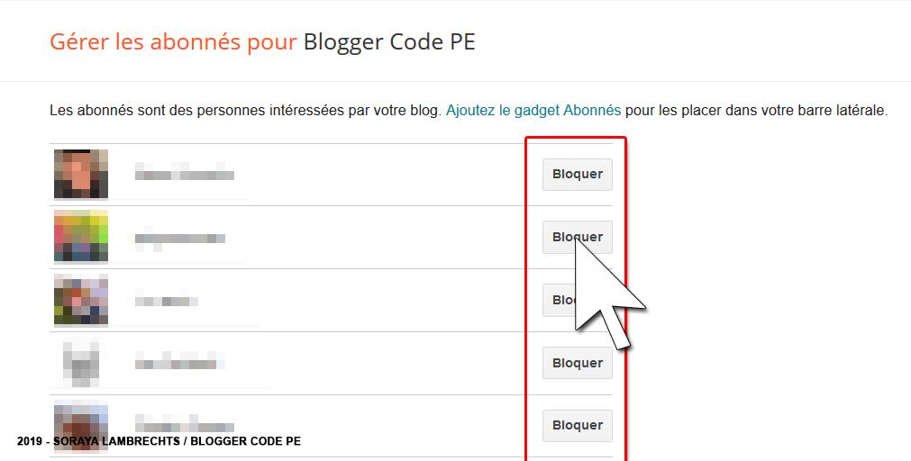 Gérer les membres du blog.