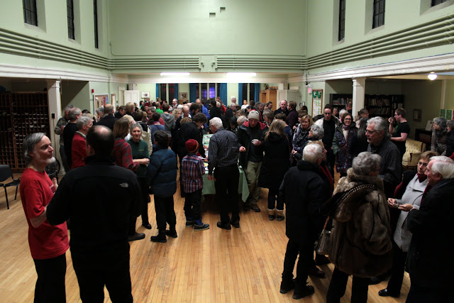 A small portion of the audience at the reception after -- our biggest audience ever!