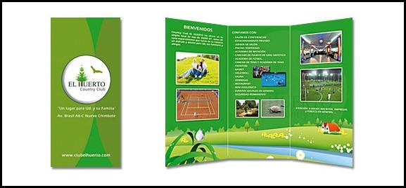 Diseño de Tripticos Country Club El Huerto