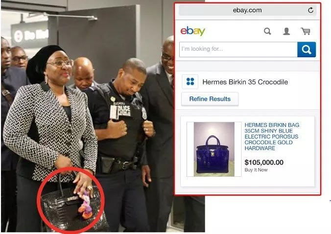 3 times Aisha Buhari has shown off her wealth - Aisha Buhari's Hermes bag made front page news