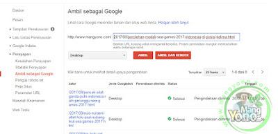 2-Cara Submit URL Artikel Blog Ke Fetch as Google