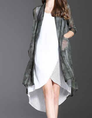 https://www.stylewe.com/product/gray-ribbed-half-sleeve-h-line-coat-41925.html