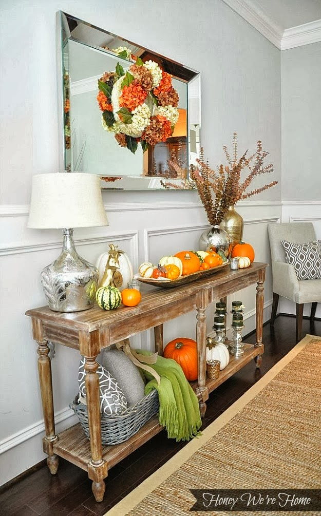 Decorating: Fall Decorating Ideas for Your Mantel| Walking On Sunshine Recipes