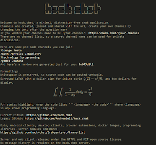 Anonymous Chat, Chat like a hacker, HACK.CHAT, hackerchat