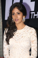 Chandini Chowdary in white Tight dress at Shamanthakamani pre release function ~  Exclusive 059.JPG
