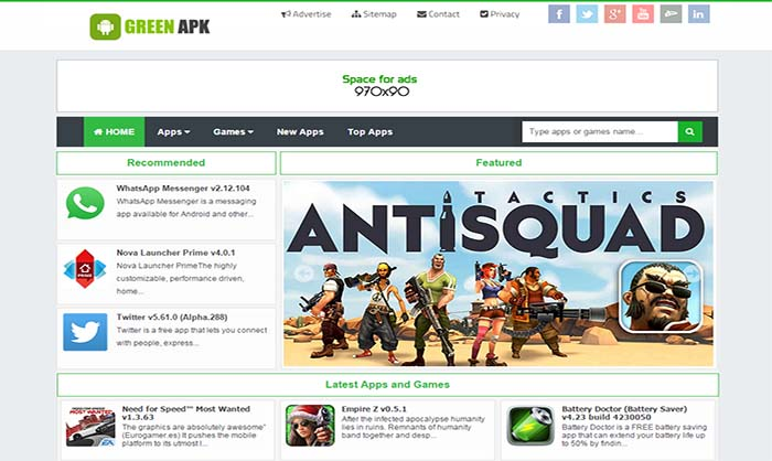 Green APK Blogger Template Theme Download Free |Download