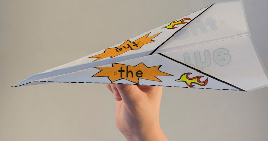 Sight Word Paper Planes